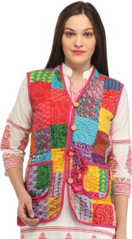 Roshi Quilted Jacket Sleeveless Printed Women's Jacket Jacket