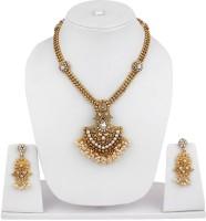 Styylo Fashion Alloy Jewel Set Gold, White