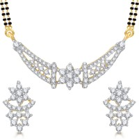 Vighnaharta Modish Alloy Alloy Jewel Set Gold
