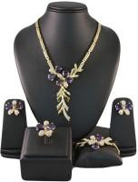 Ruhaani Jewels Style Diva Alloy Jewel Set (Purple)