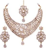 Vendee Fashion Alloy Jewel Set White