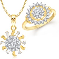 VK Jewels Antique Sun Combo Size: 18 Alloy Jewel Set Gold