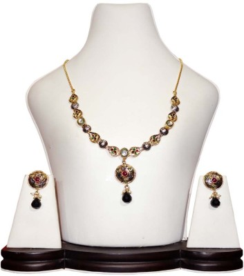 Anjan Antique Traditional Alloy Jewel Set Gold