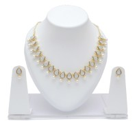 Neelam Antique Tone Alloy Jewel Set Gold, White