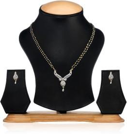 Zaveri Pearls Brass Jewel Set