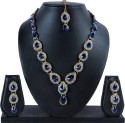 Luxor Brass Jewel Set - Blue