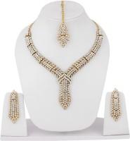 Styylo Fashion Alloy Jewel Set Gold, White, Multicolor - JWSEJEYAYZGBVWCH