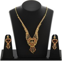 HARSHA Traditional Look Alloy Jewel Set Gold