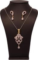 Vendee Fashion Cz Diamonds Alloy Jewel Set Silver, Gold