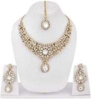 Styylo Fashion Alloy Jewel Set Gold, White, Multicolor