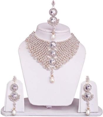 Styylo Fashion Alloy Jewel Set White