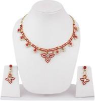 Styylo Fashion Alloy Jewel Set Red, Gold, White, Multicolor