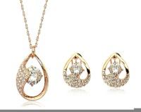 Crunchy Fashion Alloy Jewel Set White, Gold
