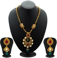 Sukkhi Traditionally Antique Kundan Copper Jewel Set Gold