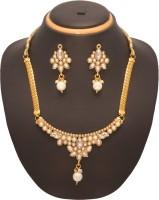 Vendee Fashion Fancy Designer Zinc Jewel Set Gold, White