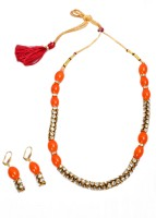 Akshada Creation Gold Antique Finish Alloy Jewel Set Orange