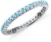 Ziveg Silver Swarovski Crystal Platinum Plated Ring