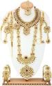 Alex Jewellery Bridal Set Brass Jewel Set - Red