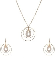Lazreena Designer Light Weighted Pendant Set Alloy Jewel Set Gold