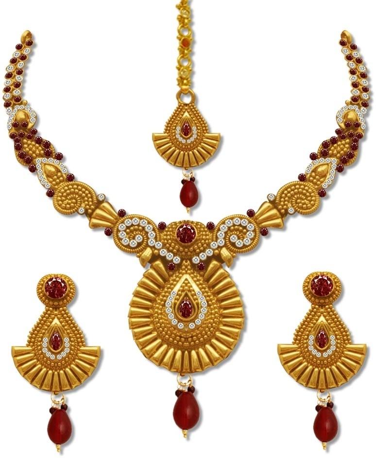 Sv Jewels u0026 Pearls Copper Jewel Set Price in India - Buy ...