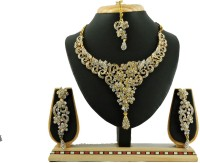 Vatsalya Creation Leaf Floral Zinc Jewel Set White