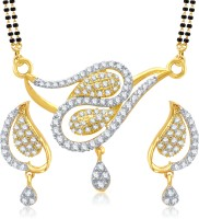 VK Jewels Peacock Design Alloy Jewel Set (Gold)
