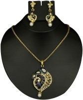 Preksha Blue Designer Pendant Set Alloy Jewel Set (Blue)