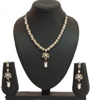 Traditsiya Antique Pearl Alloy Jewel Set Gold