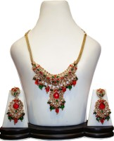Anjan Sensational Designer Alloy Jewel Set Gold