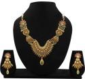 Zaveri Pearls Antique Goldtone Alloy Jewel Set - Multicolor