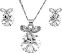 Eterno Fashions Alloy Jewel Set White