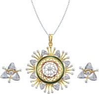 Vendee Fashion Fancy Alloy Jewel Set Silver