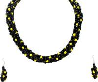 Alekip Traditioanl Beads Plastic Jewel Set Black