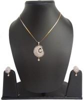 Charu Fashions Alloy Jewel Set White