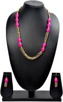 Akshada Creation Gold Antique Finish Alloy Jewel Set Pink