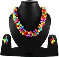 Uni Fashion Fair Designer Necklace Earring Brass, Alloy Jewel Set Multicolor