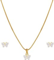 Sempre Of London Butterfly Alloy Jewel Set Gold