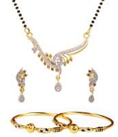 Luxor Alloy Jewel Set Maroon, White, Black, Gold, Green