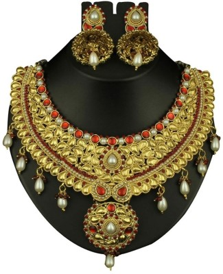 Alloy Preksha Rajwada Designer Alloy Jewel Set (Multicolor)