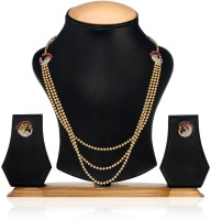 Aamoye Elegant And Fashionable Copper Jewel Set (Gold, Pink)