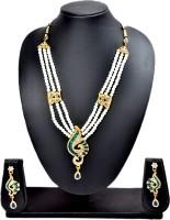 Akshada Creation Gold Antique Finish Alloy Jewel Set Green