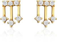 Mahi Enigmatic Rendition Alloy, Brass 24K Yellow Gold Stud Earring