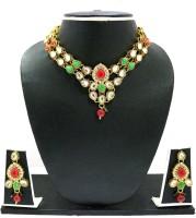 Zaveri Pearls Kundan Necklace Alloy Jewel Set Multicolor