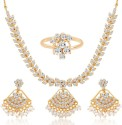 Sukkhi Alloy Jewel Set - White, Gold - JWSDVC2HHNE3SZGX