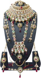 Shree Bhawani Art Jewellery Alloy Jewel Set