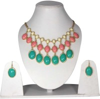 Uni Fashion Fair Designer Necklace Earring Brass, Alloy Jewel Set Multicolor