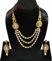 Bling N Beads Traditional Kundan Collection Alloy Jewel Set Gold, Silver