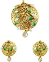 The Art Jewellery Designer Antique Gold Brass Jewel Set Gold
