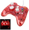 New World Led Light Gaming Controller For Microsoft Xbox 360 And Pc  Joystick (Red, For PC)