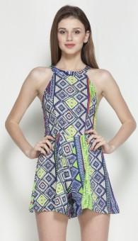 Veni Vidi Vici Geometric Print Women's Jumpsuit